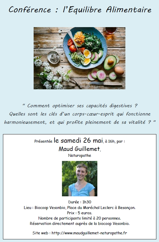 Conférence : l'Equilibre Alimentaire